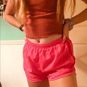 women's small pink nike shorts